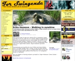 Bild på artikel i For Swingende där Erikas singel Walking in sunshine presenteras.